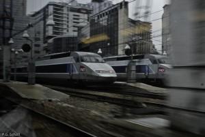 Montparnasse TGV, Paris, France.