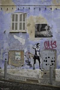 Street Art au Panier, Marseille, France. 2