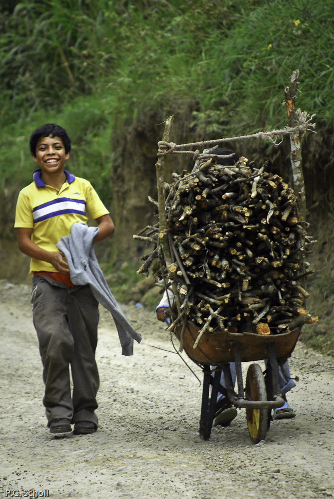 Enfants de Chachagui, Nariño, Colombie.
