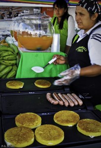 Arepas de Choclo, Bogota, Colombie.