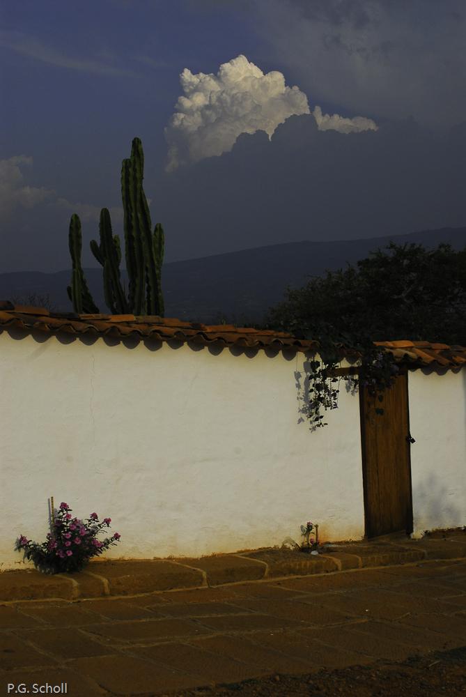 Un mur de Barichara, Colombie.