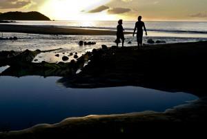 Coucher de soleil à Richmond Vale, Saint-Vincent, Antilles.