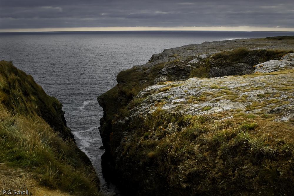 La cote sauvage de l'ile de Groix, Bretagne, France