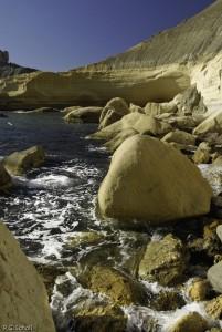 Côte rocheuse, Malte.