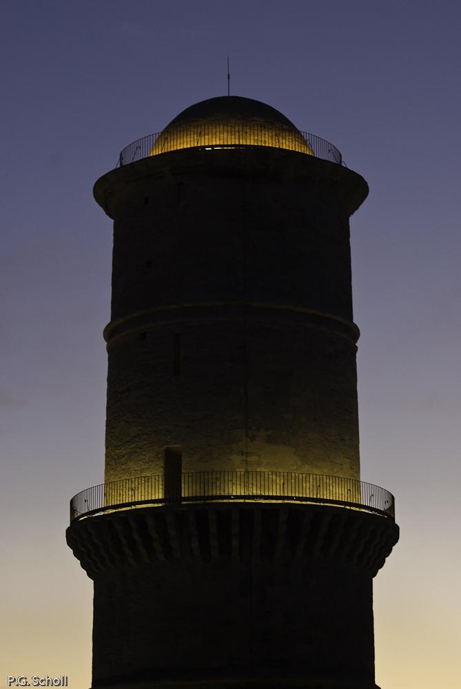 La tour du fort Saint Jean, Marseille, France.