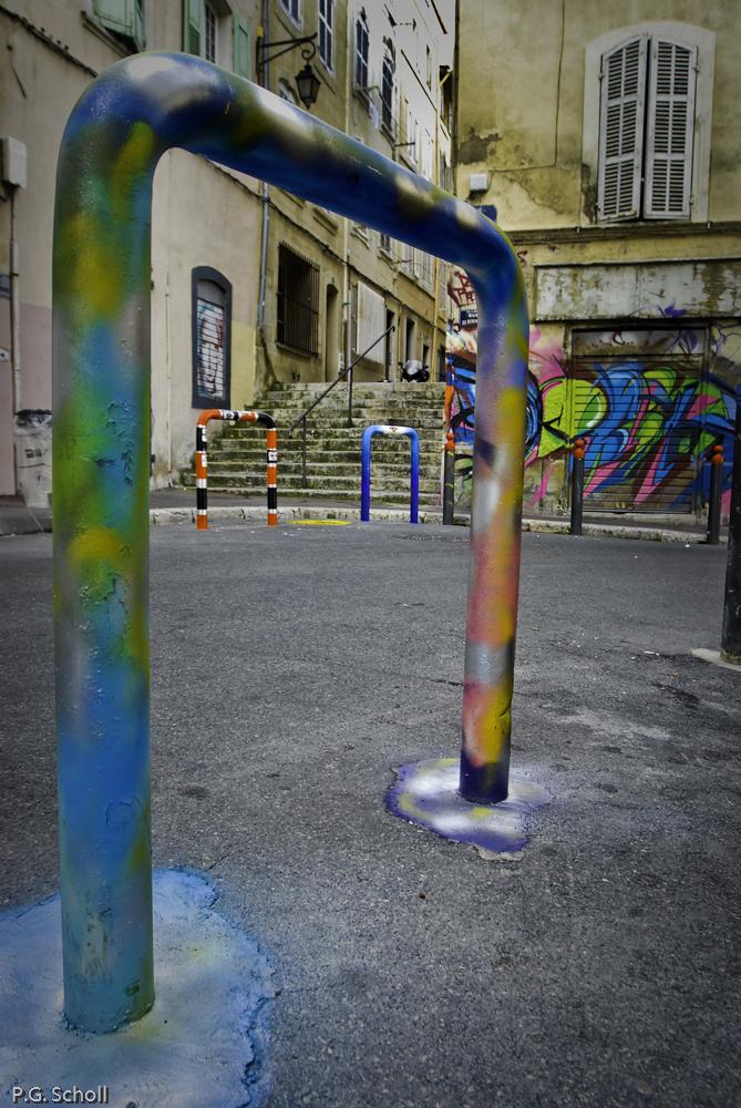 Street Art au Panier, Marseille, France.