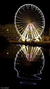 La grande roue au vieux port, Marseille, France.