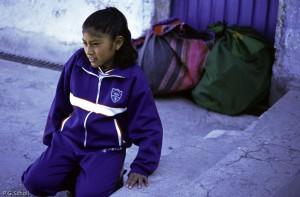 Geraldine est prête à partir pour une semaine, Chivay, Pérou.