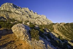 La montagne Sainte Victoire, Provence, France.