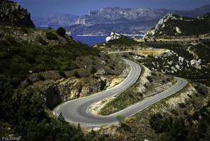 Route du cap Canaille, Cassis, Provence, France.