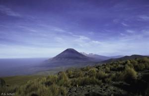 Le Volcan Misti vu depuis le volcan Pichu-Pichu, Pérou.
