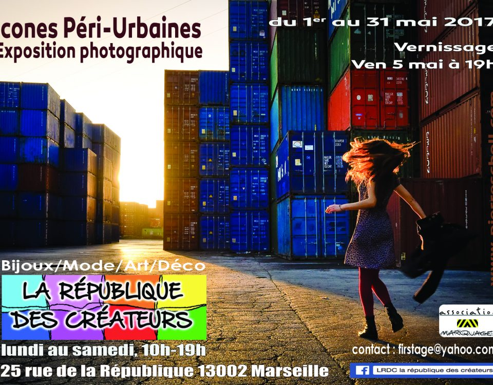 Affiche Expo LRDC Icones Péri-Urbaines Pierre Scholl