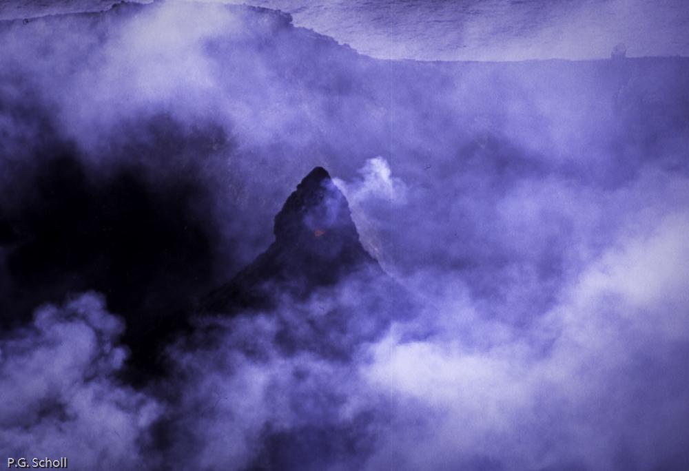 L'une des bouches du cratère du Stromboli