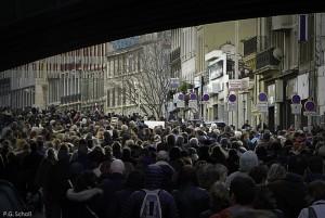 Manifestation à Marseille, Charlie Hebdo, France.