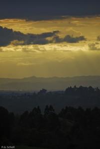 Coucher de Soleil à Salento, Quindio, Colombie