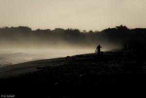 Embruns sur la plage de Palomino, Colombie.