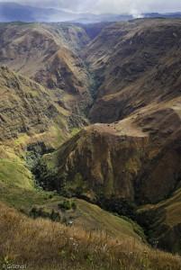 Le canion du Rio Pasto, Nariño, Colombie.