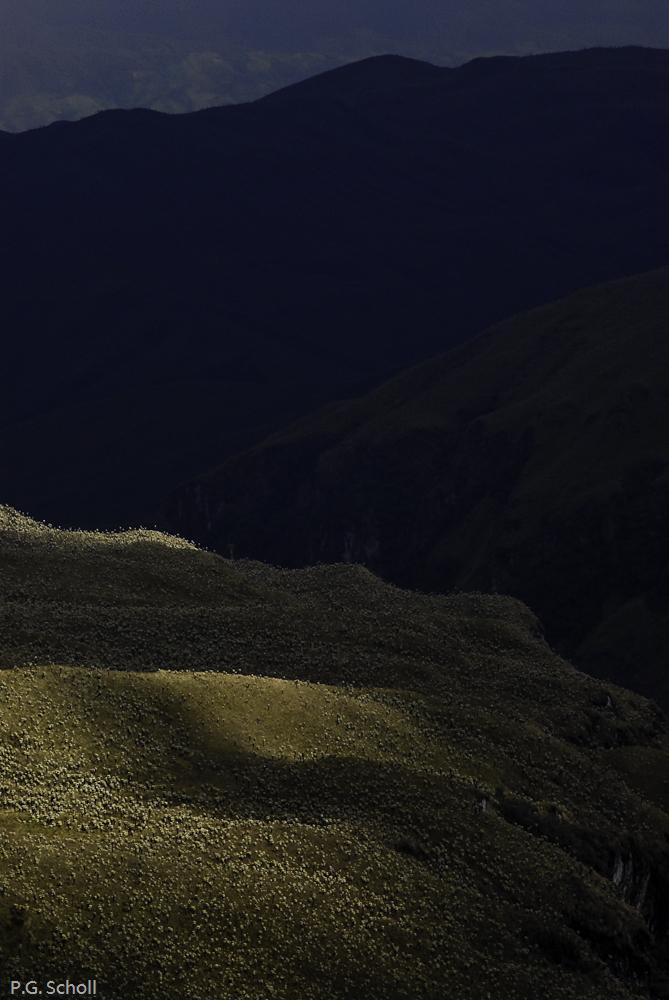 Percée de soleil sur l'Altiplano Colombien