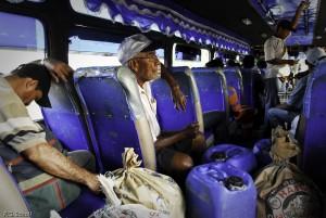 Voyage en bus, nord de la Colombie.