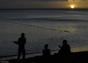 Coucher de Soleil à Méro, Dominique, Antilles.