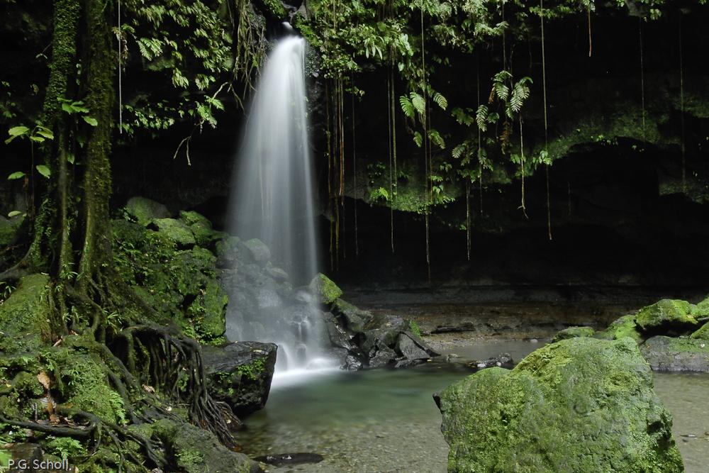 Cascade de l'émeraude, Dominique, Antilles.