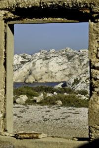 Vue sur Mer, Frioul, Marseille, France.