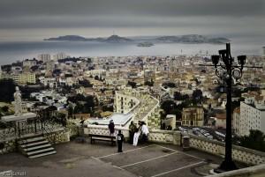 Marseille et le Frioul vus de la Bonne mère.