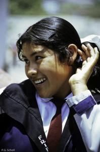 Une collégienne d'Arequipa, Pérou