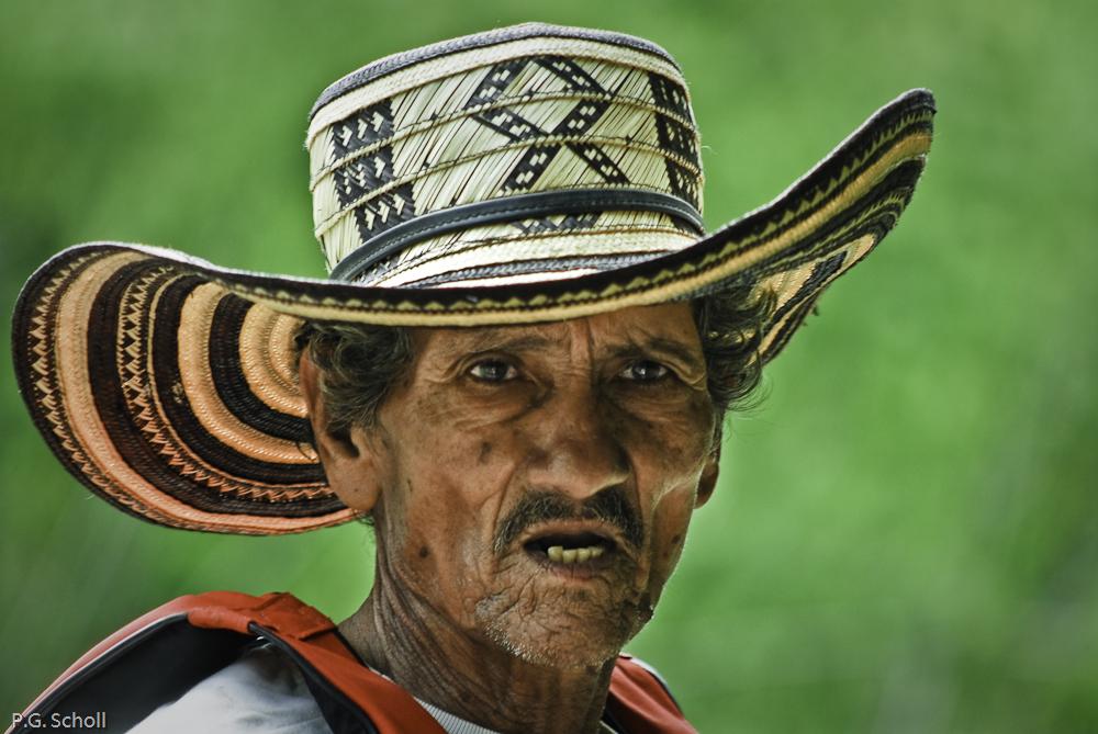 Portrait d'un guide colombien.