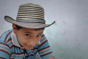 Portrait d'un jeune colombien, Cauca, Colombie.