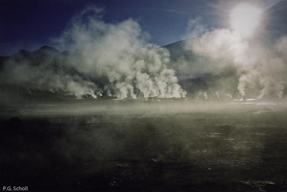 Les geisers du Tatio, à la frontière entre le Chili et la Bolivi