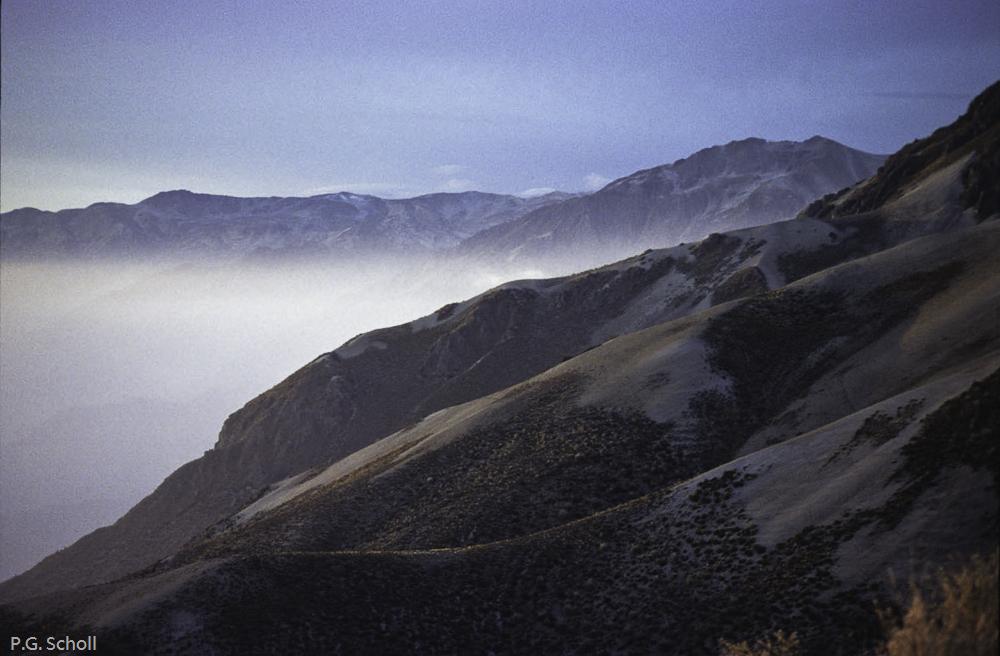 Sur les flancs du Volcan Huaynaputina, au dessus d'Omate, Pérou,