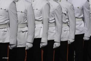 Défilé militaire à poing fermé, la Valette, Malte.