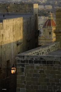 Eglise et chateau, Malte.