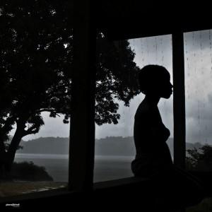 Pluie sur le Maroni, Guyane Française.